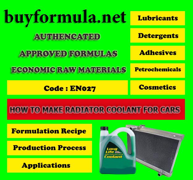 buyformula | How to make coolant liquid for car radiators